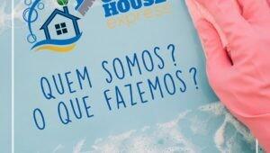 "Banner da startup ""Clean house express""."