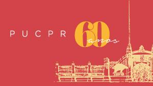 Banner de comemoração dos 60 anos da PUCPR.