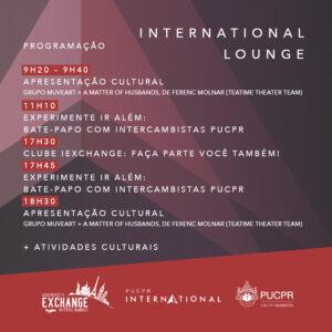 Programação PUCPR International Lounge