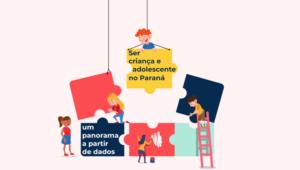 Arte da Serie Ser criança e adolescente com crianças montando quebra-cabeça