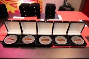 Medalhas da homenagem por tempo de casa