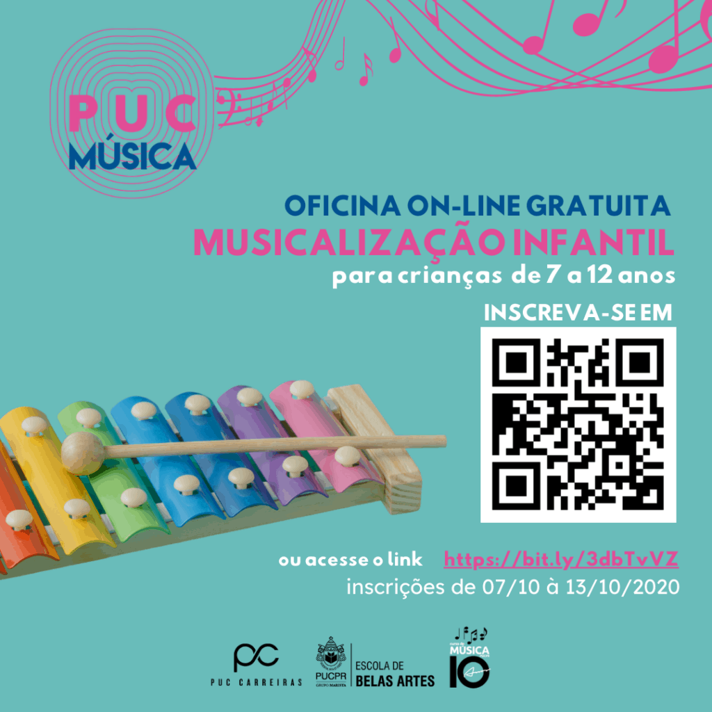 oficinas de musicalização infantil; puc música; curso de música da pucpr; licenciatura em música; Licenciatura em Música da PUCPR